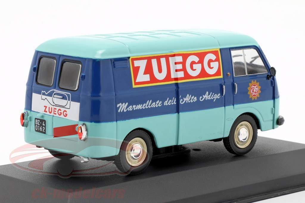 Fiat 1100 T van Zuegg année de construction 1961 turquoise / bleu 1:43 Altaya