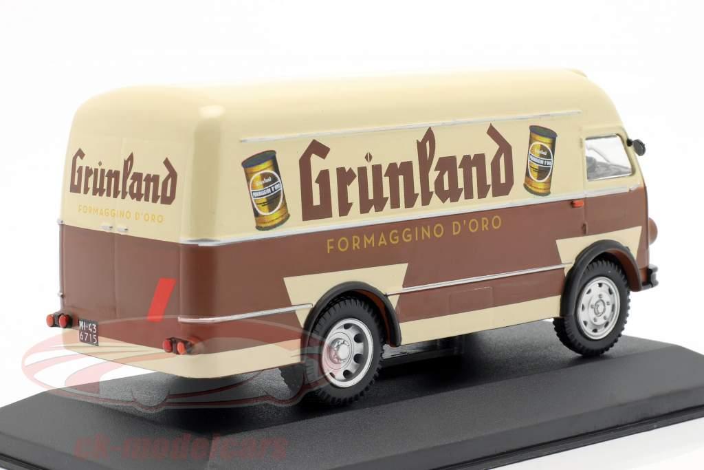 OM Leoncino busje Grünland Bouwjaar 1959 bruin / beige 1:43 Altaya