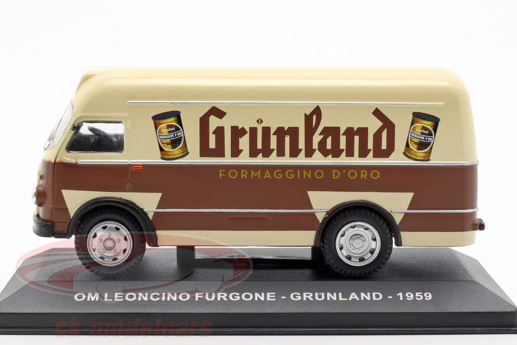 OM Leoncino van Grünland année de construction 1959 brun / beige 1:43 Altaya