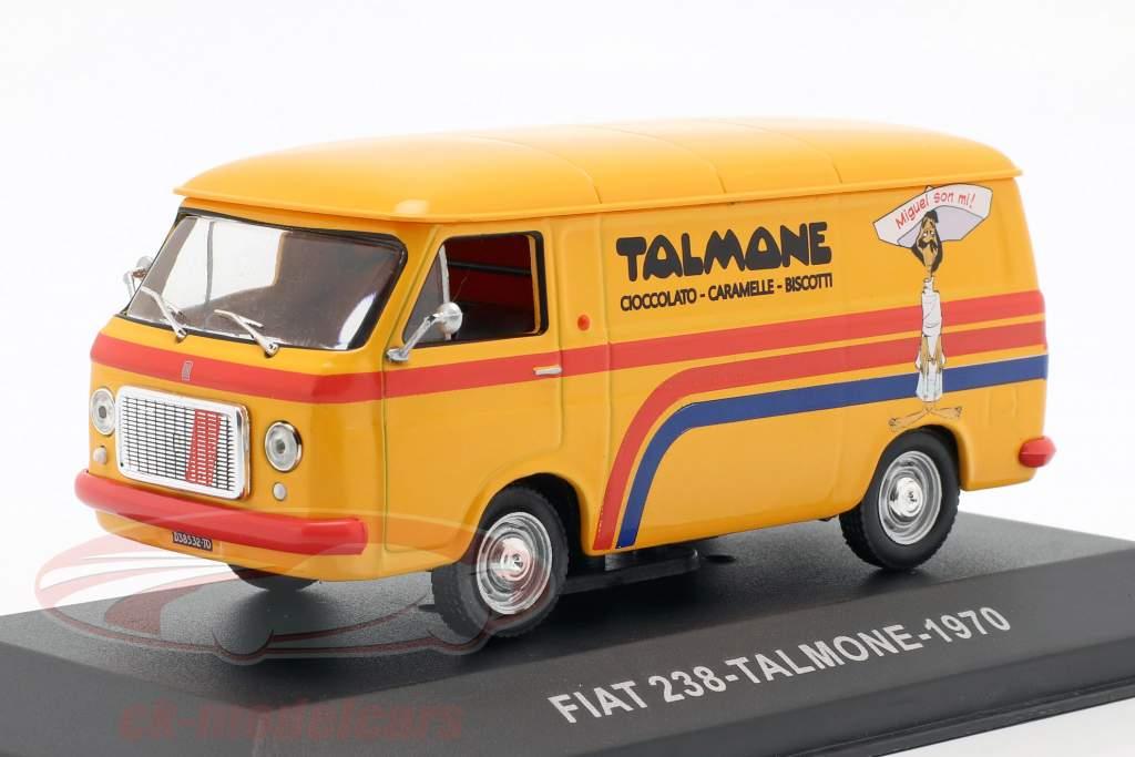 Fiat 238 busje Talmone Bouwjaar 1970 oranje 1:43 Altaya