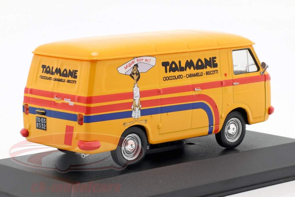 Fiat 238 van Talmone ano de construção 1970 laranja 1:43 Altaya