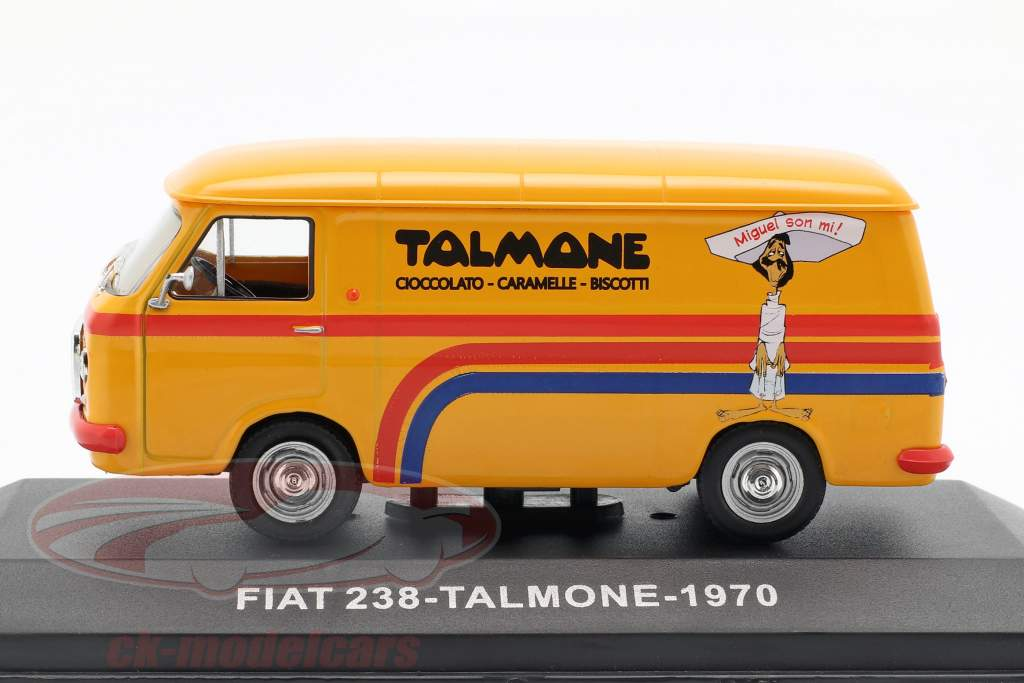 Fiat 238 furgone Talmone anno di costruzione 1970 arancione 1:43 Altaya