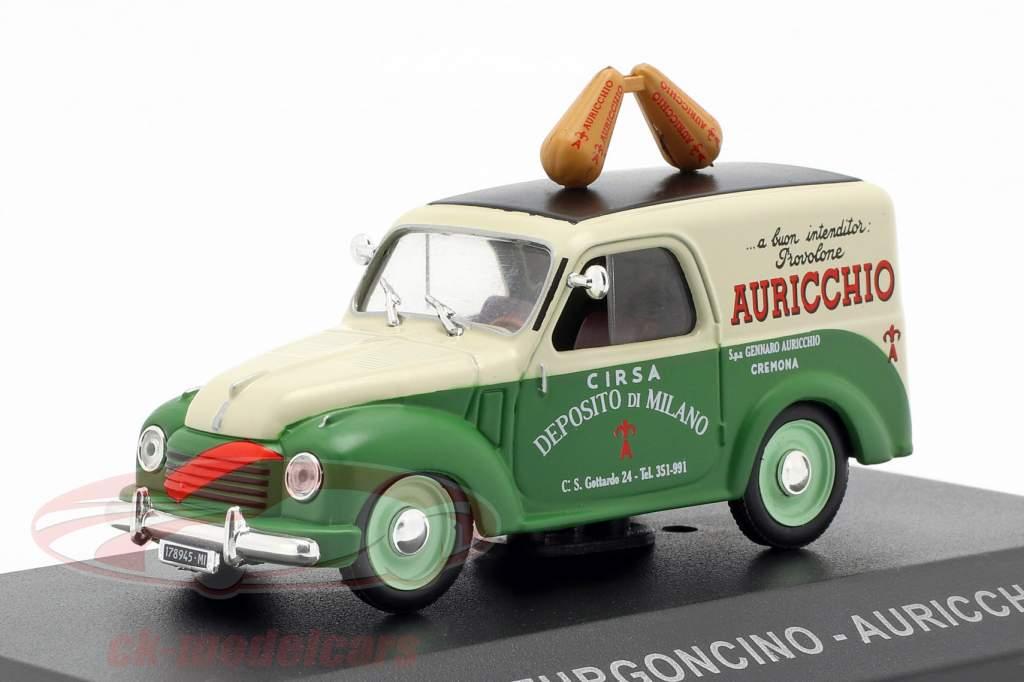 Fiat 500C Lieferwagen Auricchio Baujahr 1951 creme weiß / grün 1:43 Altaya