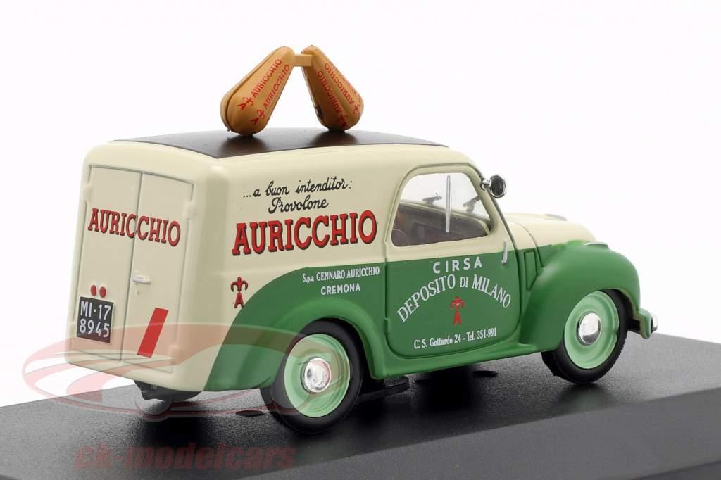 Fiat 500C van Auricchio Opførselsår 1951 creme hvid / grøn 1:43 Altaya