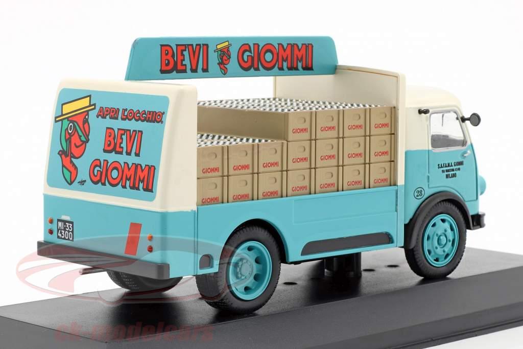 OM Leoncino furgoneta Giommi año de construcción 1957 turquesa / gris 1:43 Altaya