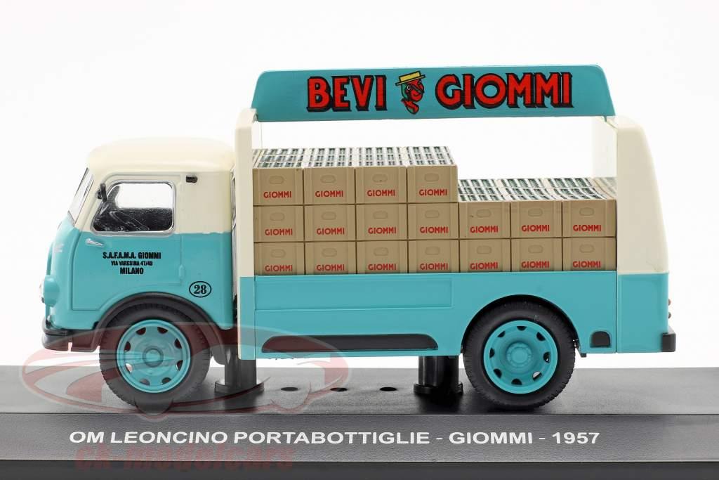OM Leoncino van Giommi ano de construção 1957 turquesa / cinza 1:43 Altaya