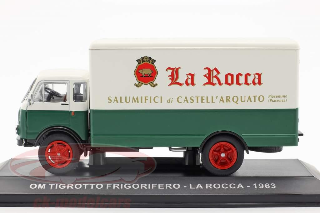 OM Tigrotto van La Rocca année de construction 1963 blanc / vert 1:43 Altaya