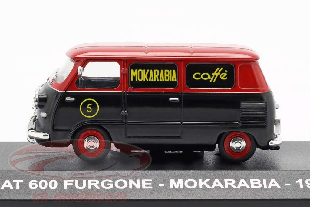 Fiat 600 Lieferwagen Mokarabia Baujahr 1958 rot / schwarz 1:43 Altaya