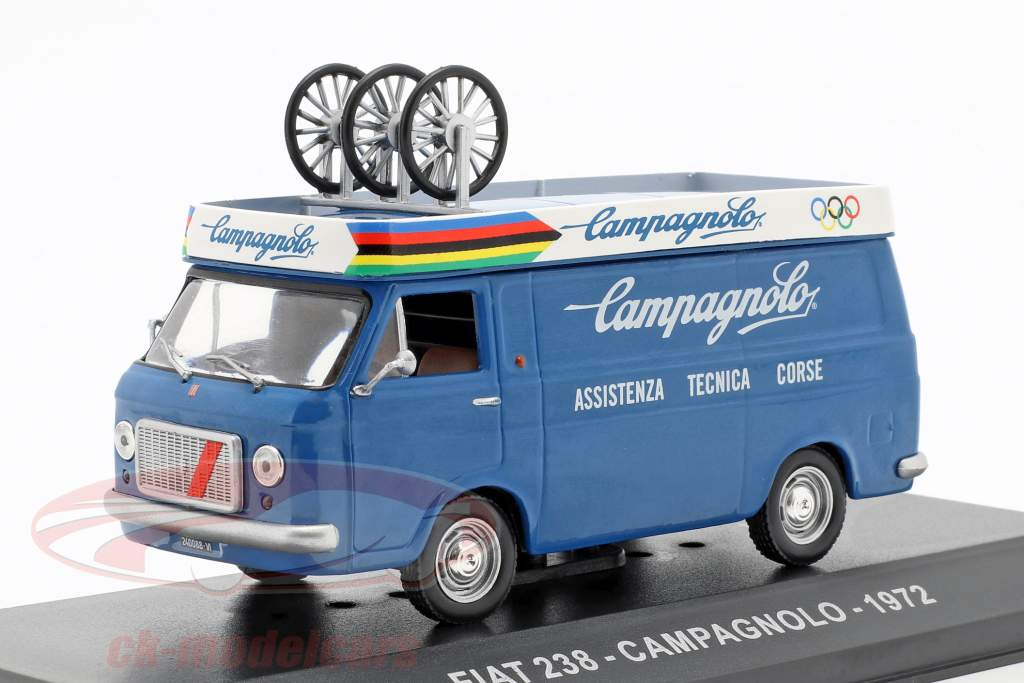 Fiat 238 furgoneta Campagnolo año de construcción 1972 azul 1:43 Altaya