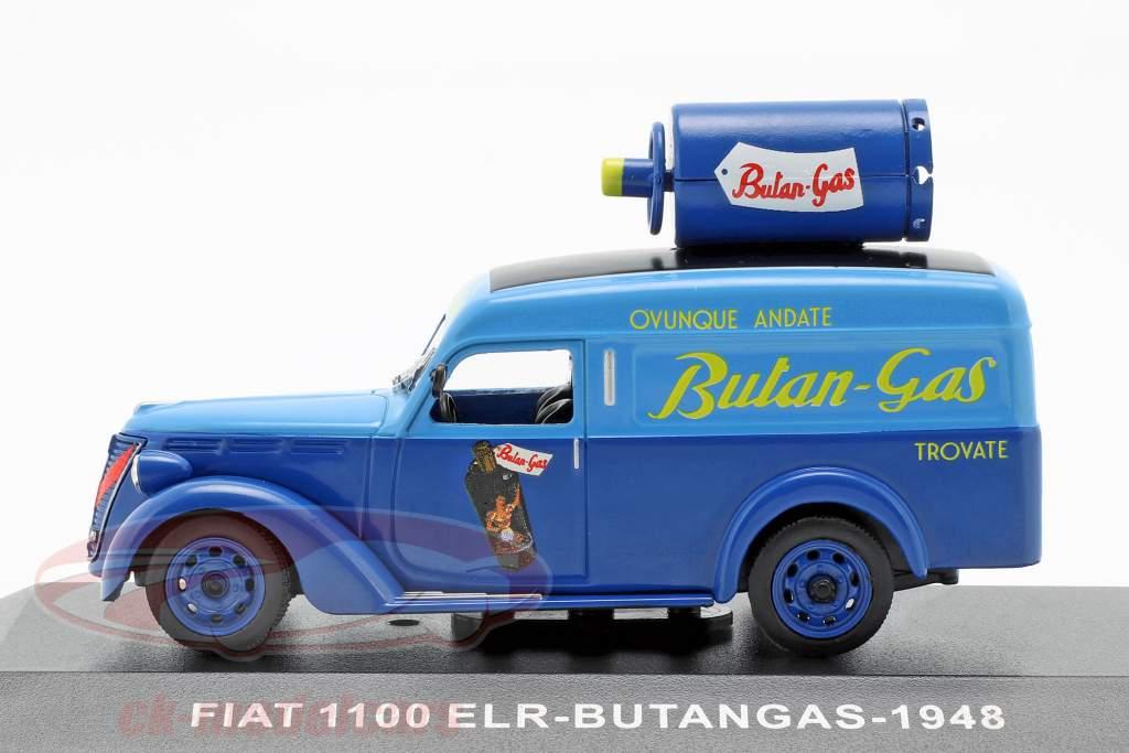 Fiat 1100 ELR Lieferwagen Butangas Baujahr 1948 blau 1:43 Altaya