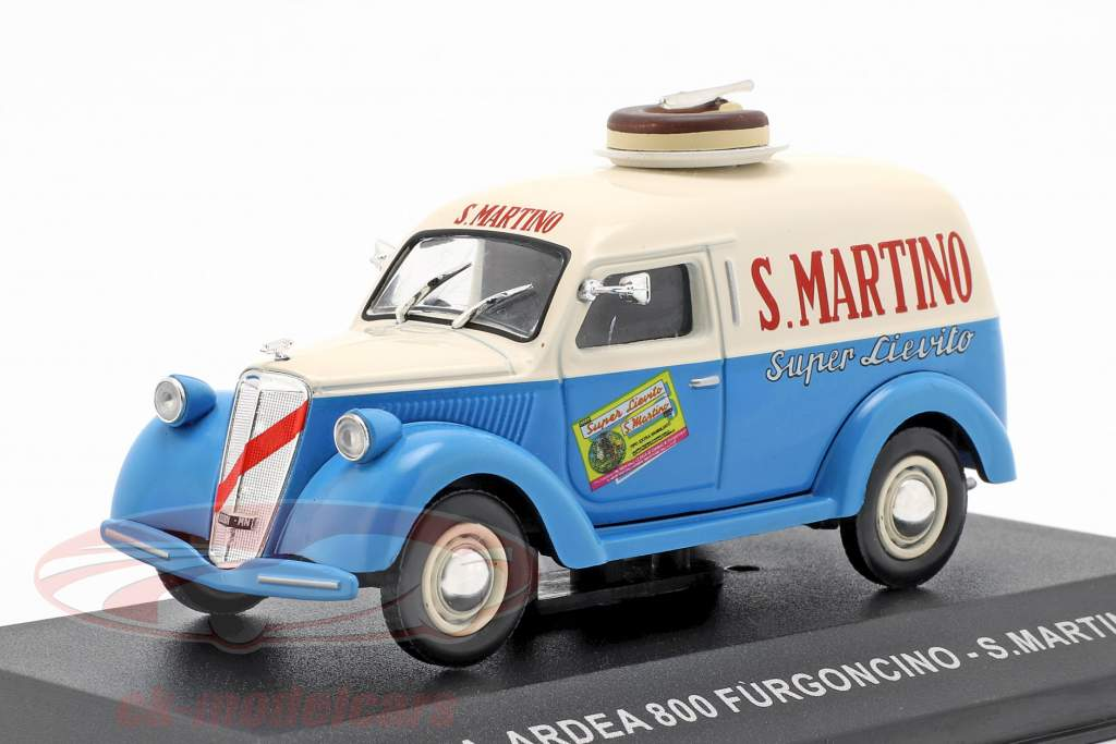 Lancia Ardea 800 van S. Martino ano de construção 1949 creme branco / azul  1:43 Altaya