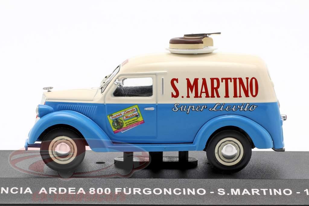 Lancia Ardea 800 van S. Martino Opførselsår 1949 creme hvid / blå  1:43 Altaya