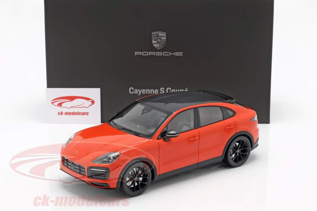 Porsche Cayenne S Coupe Bouwjaar 2019 lava oranje 1:18 Norev