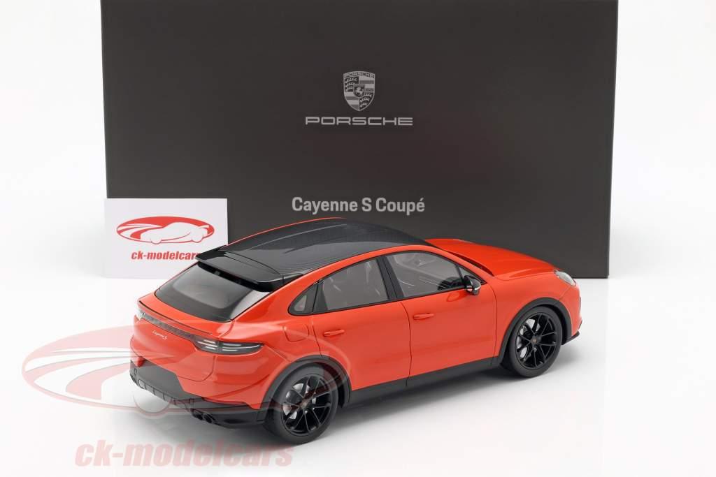 Porsche Cayenne S Coupe ano de construção 2019 lava laranja 1:18 Norev