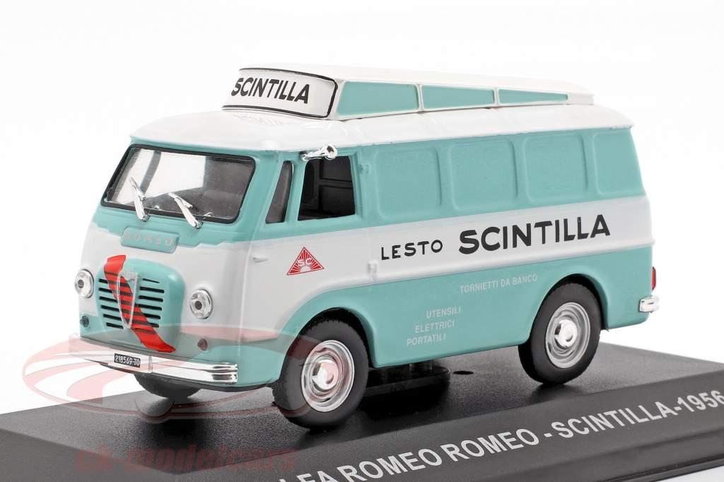 Alfa Romeo Romeo busje Scintilla turkoois / wit 1:43 Altaya