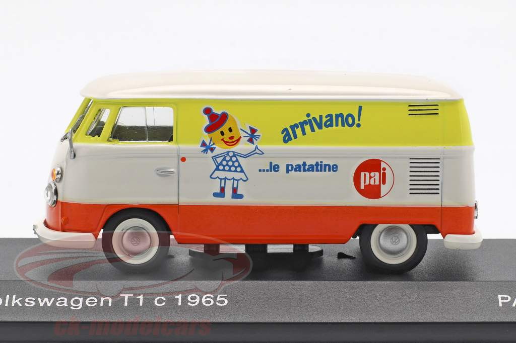 Volkswagen VW T1c autobús año de construcción 1965 blanco / naranja / amarillo 1:43 Altaya