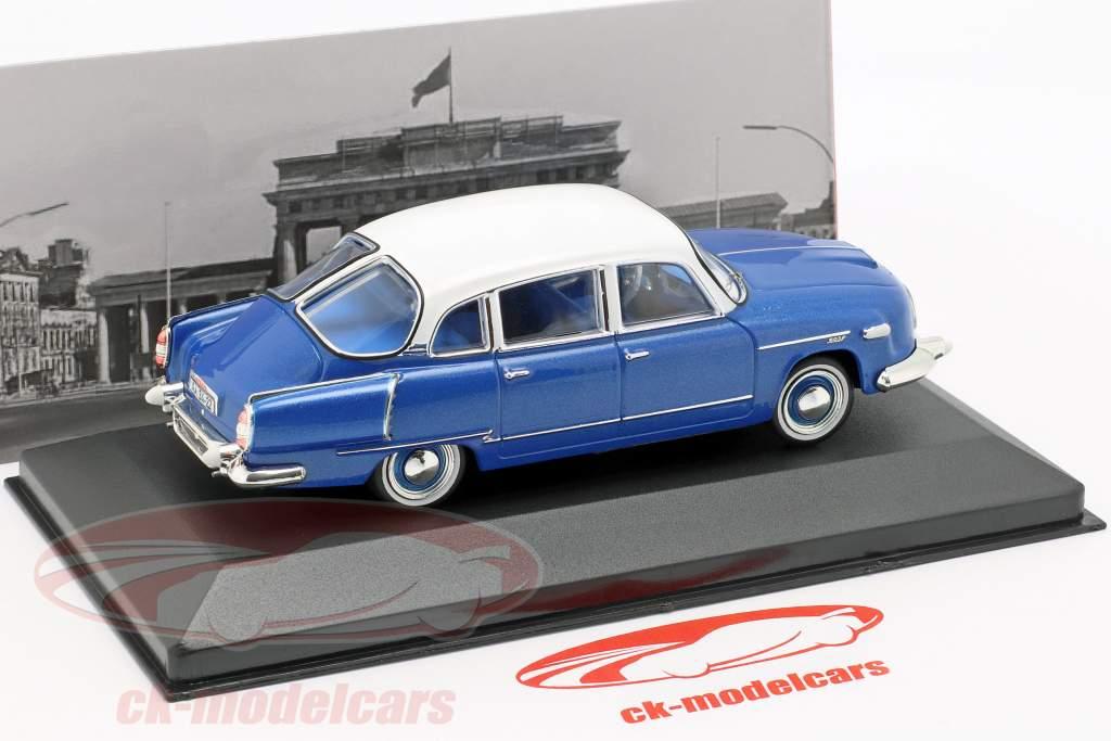 Tatra 603/1 anno di costruzione 1958 blu metallico / bianco 1:43 Ixo