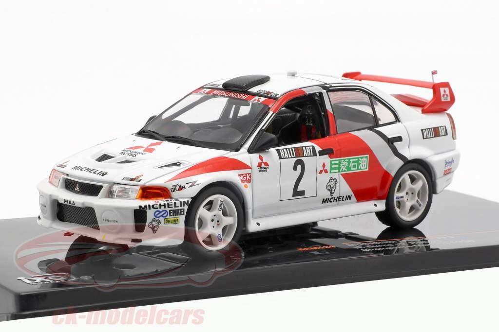 Mitsubishi Lancer Evo V #2 Champions Meeting 1998 Burns, Ralliart 1:43 Ixo