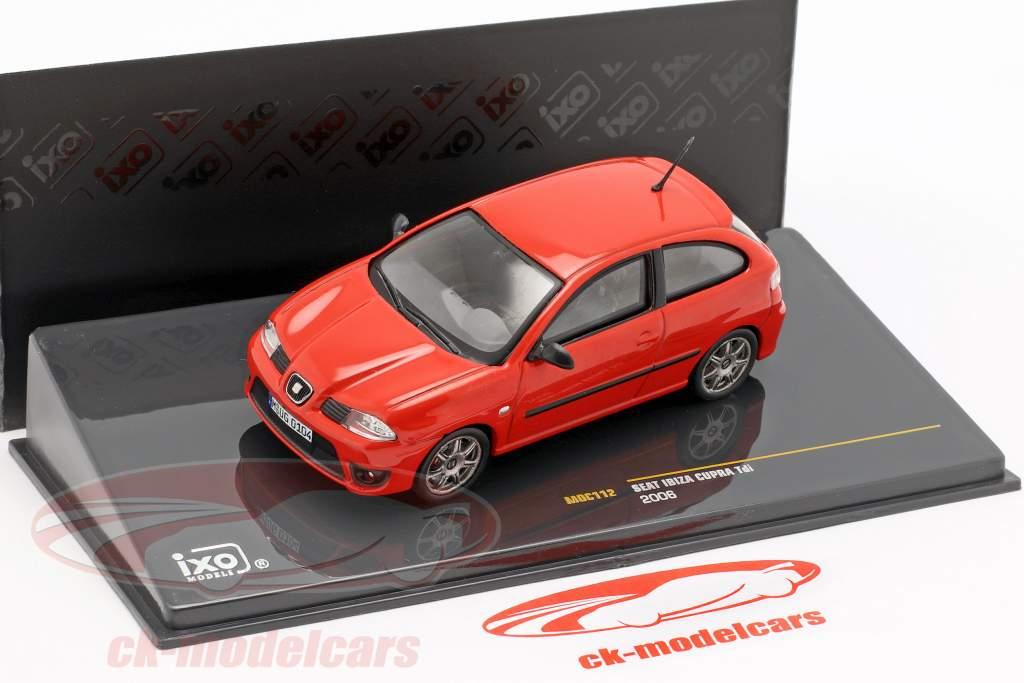 Seat Ibiza Cupra Tdi ano de construção 2006 vermelho 1:43 Ixo