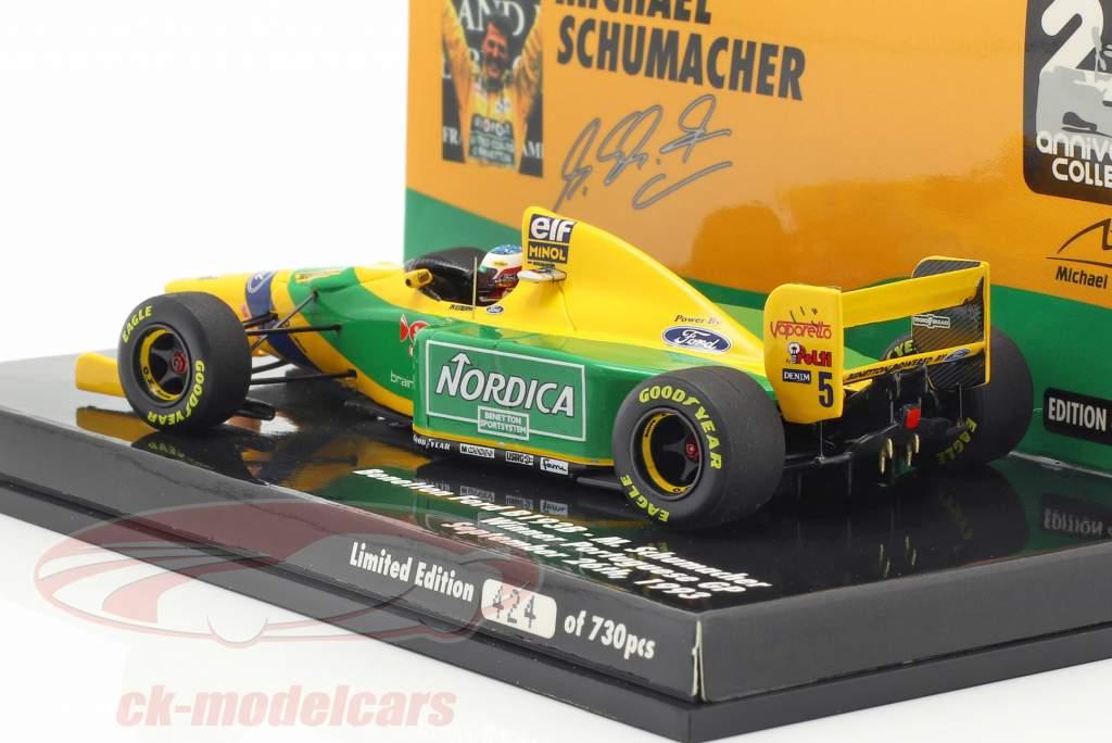 M. Schumacher Benetton B193B #5 vencedor Portugal GP fórmula 1 1993 1:43 Minichamps