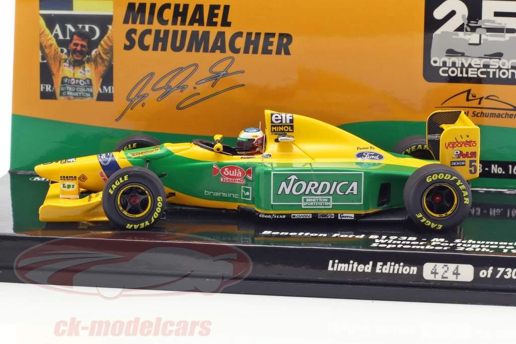 M. Schumacher Benetton B193B #5 Vinder Portugal GP formel 1 1993 1:43 Minichamps