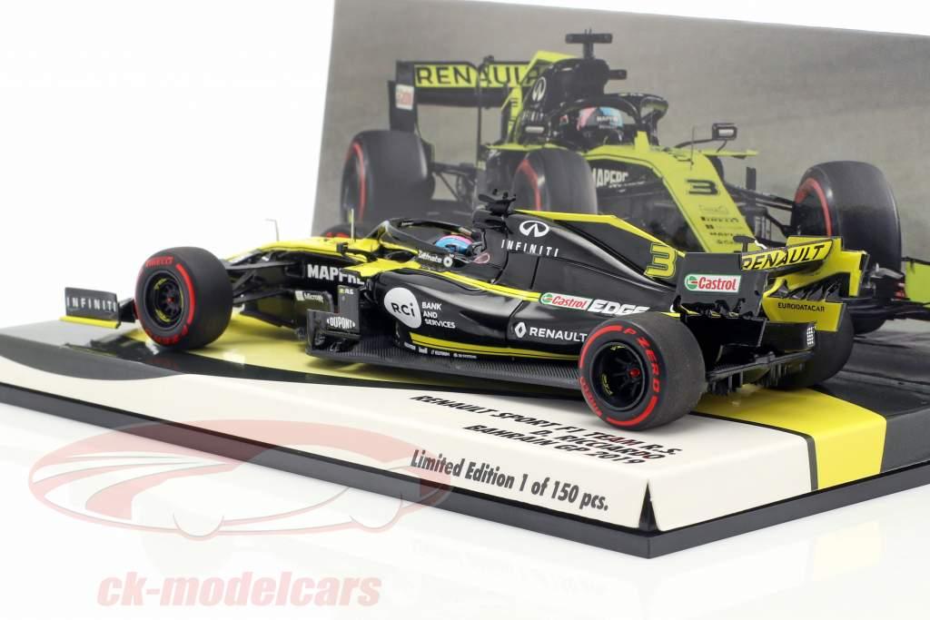 Daniel Ricciardo Renault R.S.19 #3 bahrain GP formula 1 2019 1:43 Minichamps
