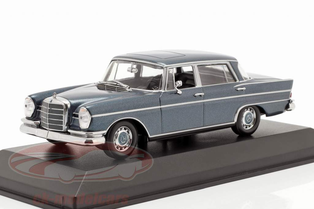 Mercedes-Benz 300 W112 SE lang year 1963 blue metallic 1:43 Minichamps