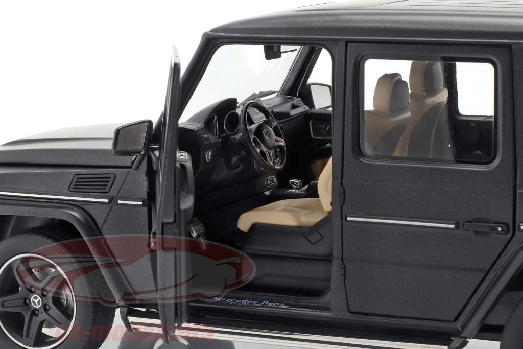 Mercedes-Benz G-Klasse (W463) Bouwjaar 2015 designo nacht zwart magno 1:18 iScale