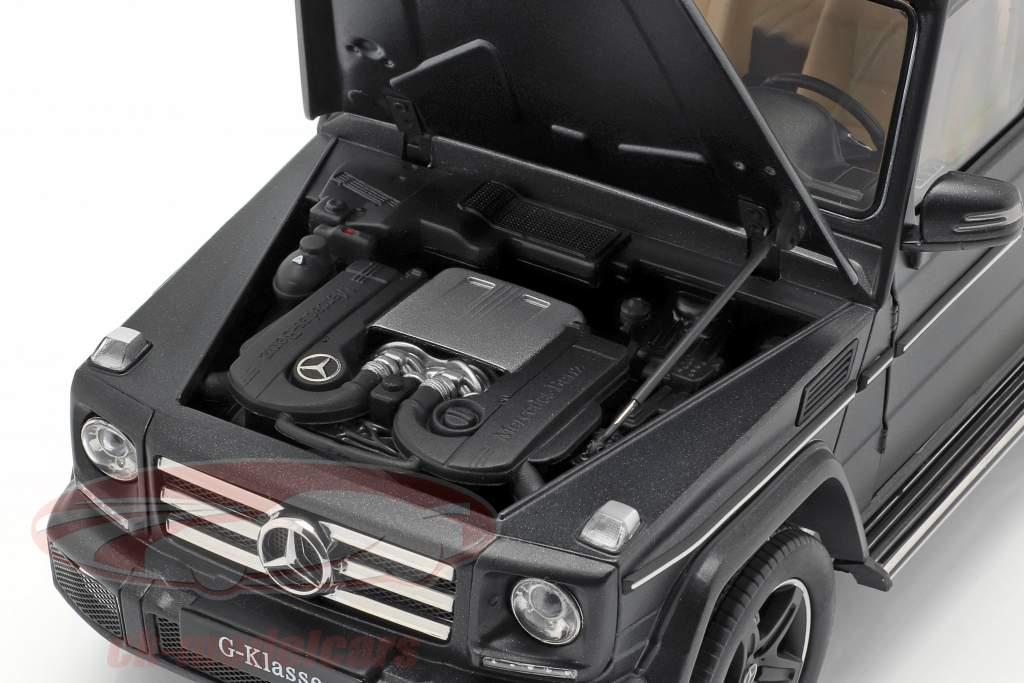 Mercedes-Benz G-classe (W463) ano de construção 2015 designo noite preto magno 1:18 iScale
