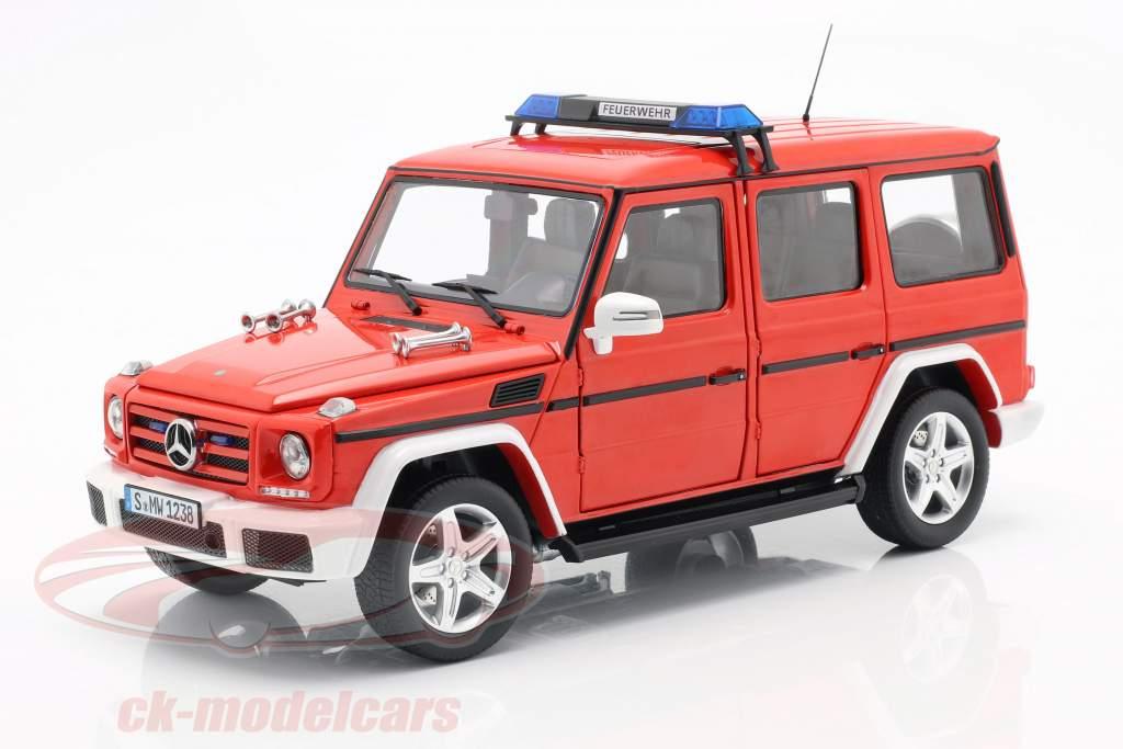 Mercedes-Benz G-Class (W463) 2015 departamento de bomberos 1:18 iScale