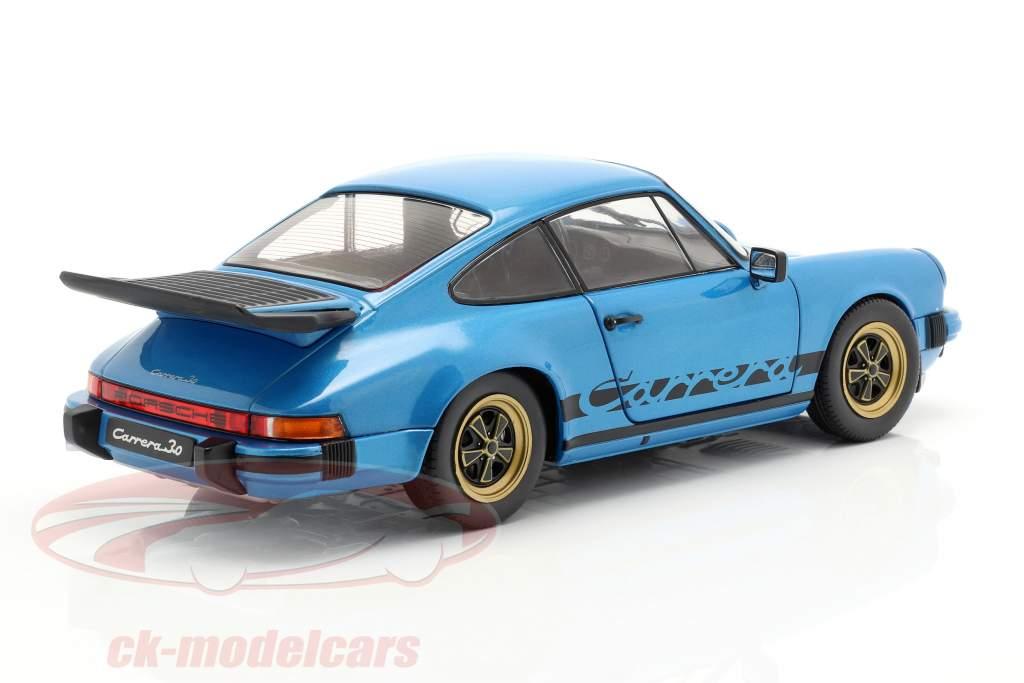 Porsche 911 (930) 3.0 Coupe année de construction 1984 minerva bleu 1:18 Solido