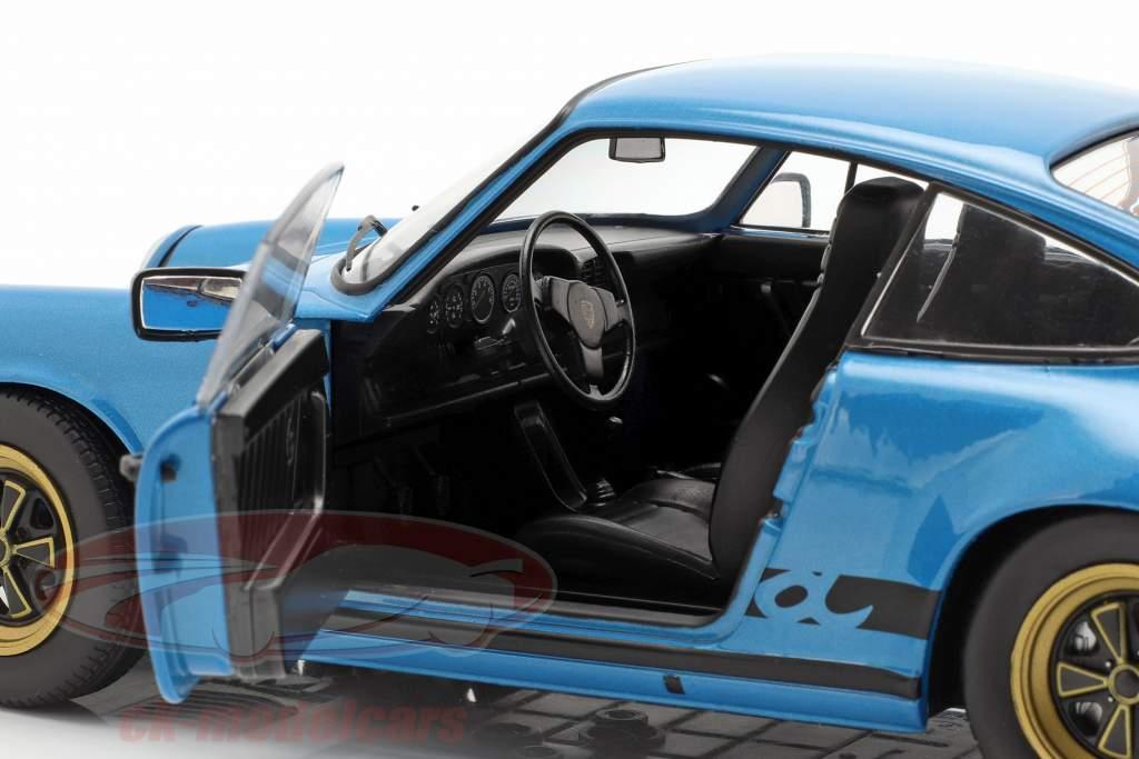 Porsche 911 (930) 3.0 Coupe Opførselsår 1984 minerva blå 1:18 Solido