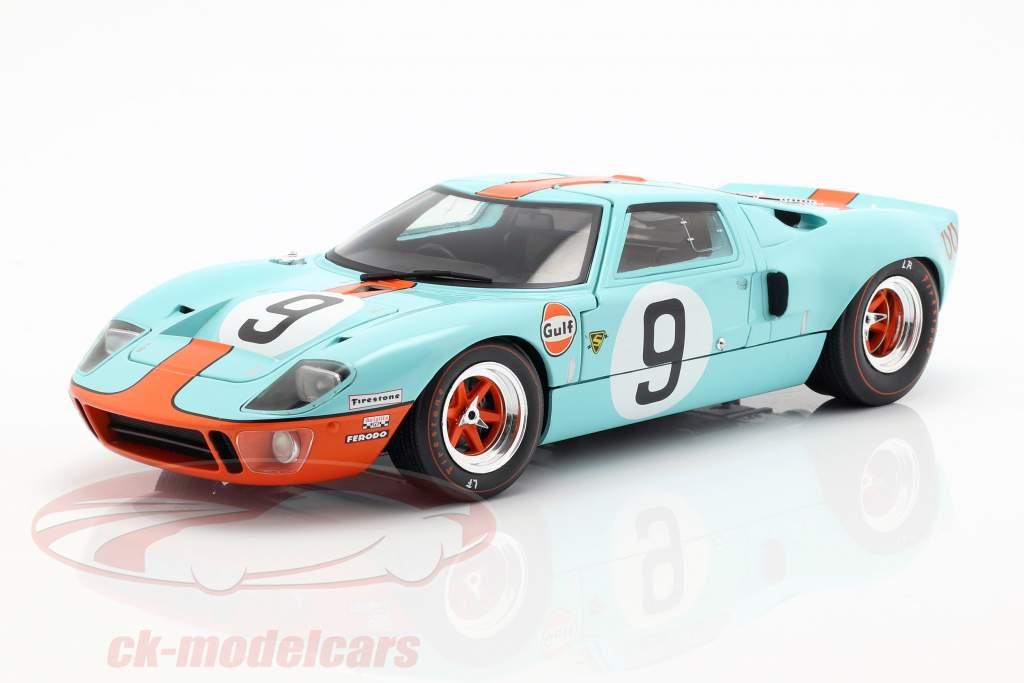 Ford GT40 Gulf #9 winnaar 24h LeMans 1968 Rodriguez, Bianchi 1:18 Solido