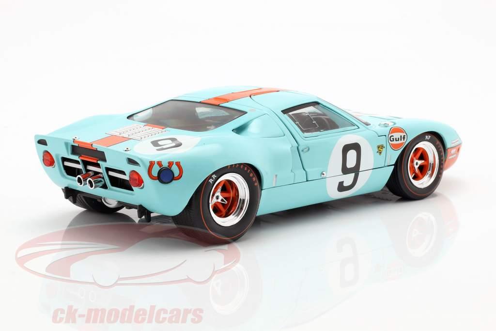 Ford GT40 Gulf #9 ganador 24h LeMans 1968 Rodriguez, Bianchi 1:18 Solido