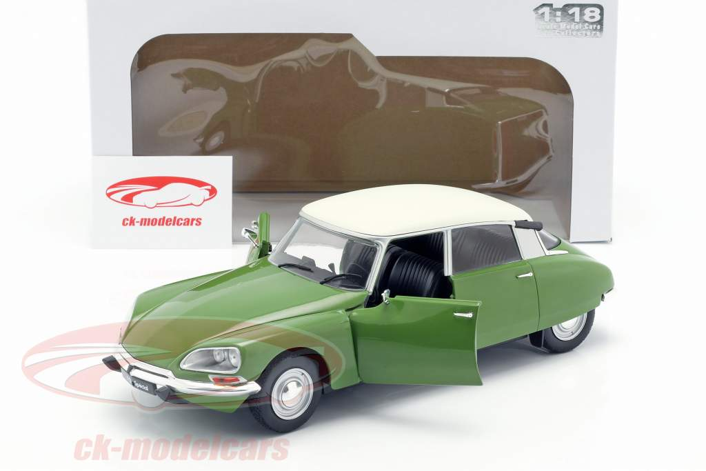 Citroen D Special ano de construção 1972 muscine verde / branco 1:18 Solido
