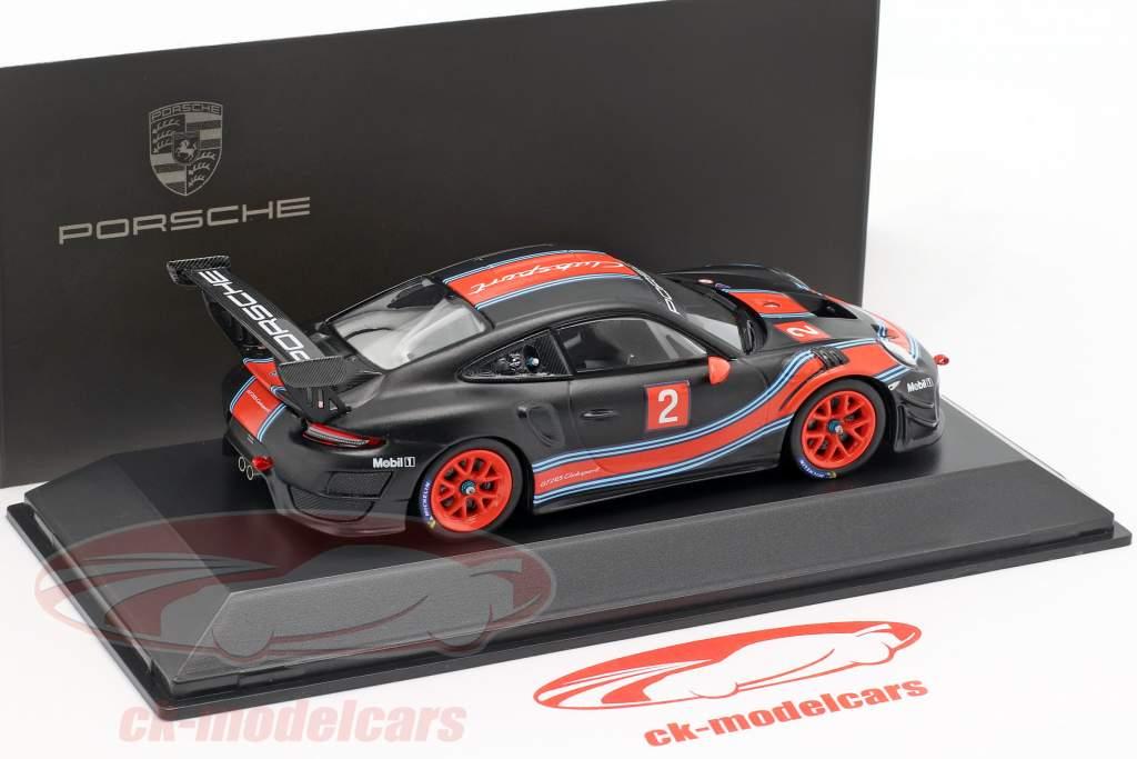 Porsche 911 (991 II) GT2 RS Clubsport #2 noir / rouge / bleu 1:43 Spark