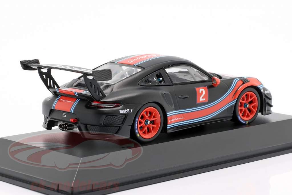 Porsche 911 (991 II) GT2 RS Clubsport #2 preto / vermelho / azul 1:43 Spark