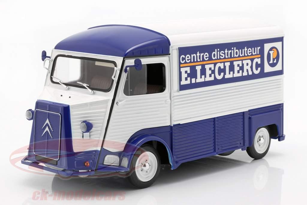 Citroen typen H  E. LECLERC Opførselsår 1969 blå / hvid 1:18 Solido