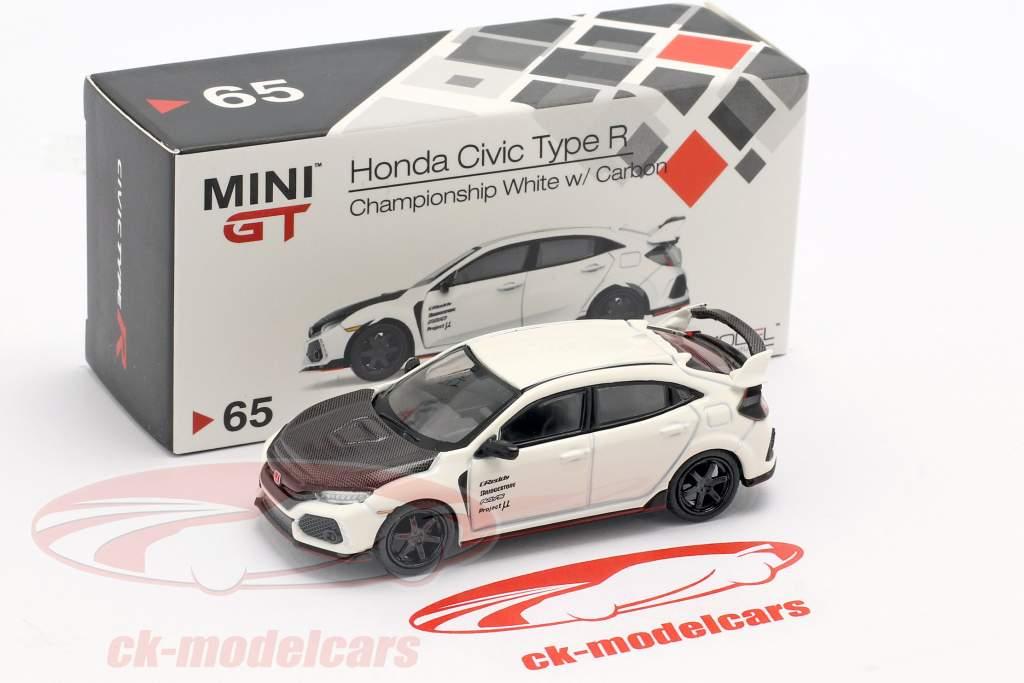 Honda Civic tipo R (FK8) LHD championship bianco / carbossilico 1:64 True Scale