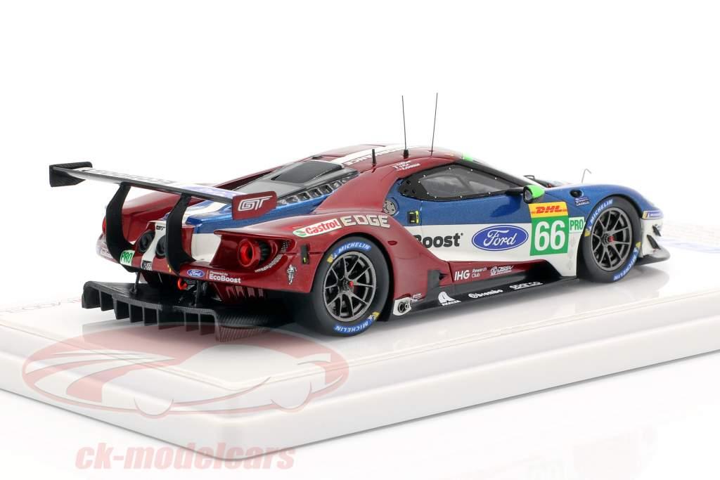 Ford GT #66 klasse Vinder 6h Spa 2018 Mücke, Pla, Johnson 1:43 True Scale