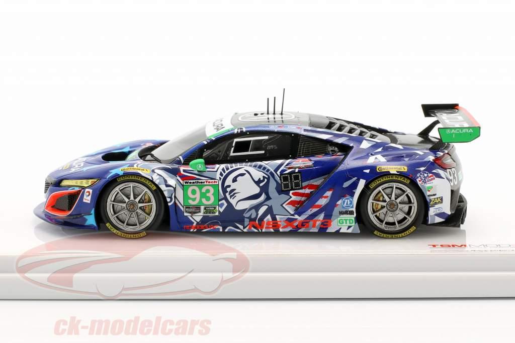Acura NSX GT3 #93 6h Watkins Glen IMSA 2017 Lally, Legge 1:43 True Scale
