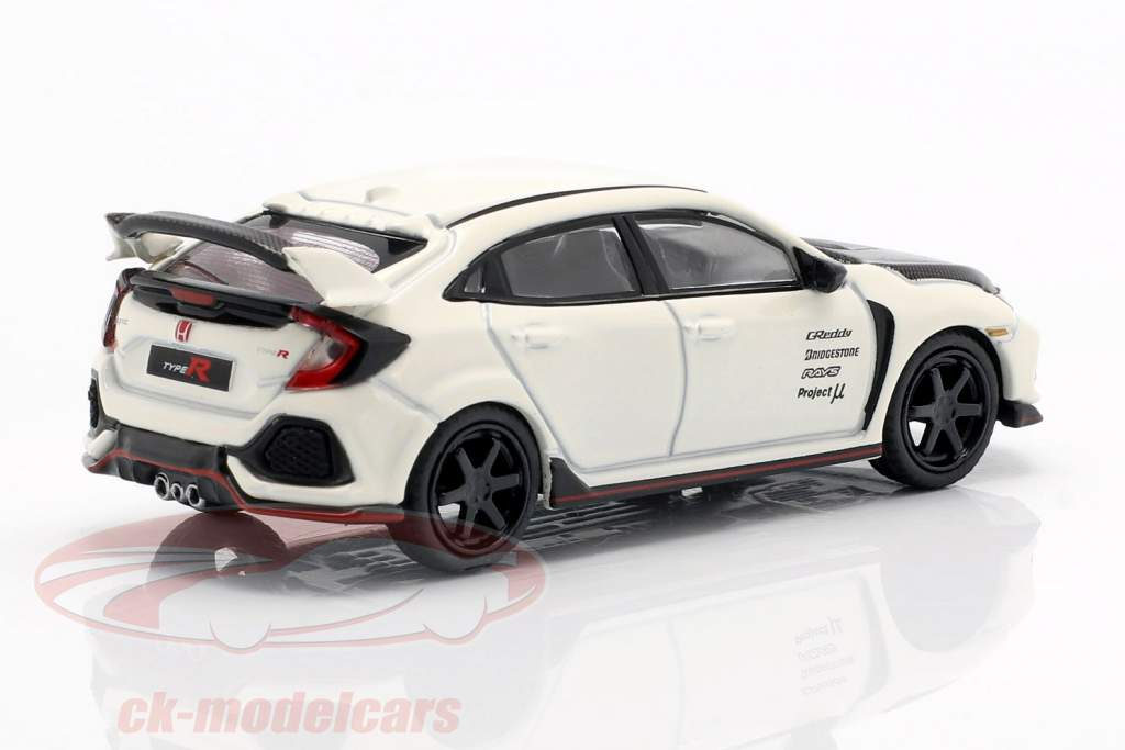 Honda Civic Type R (FK8) LHD championship white / carboxylic 1:64 True Scale