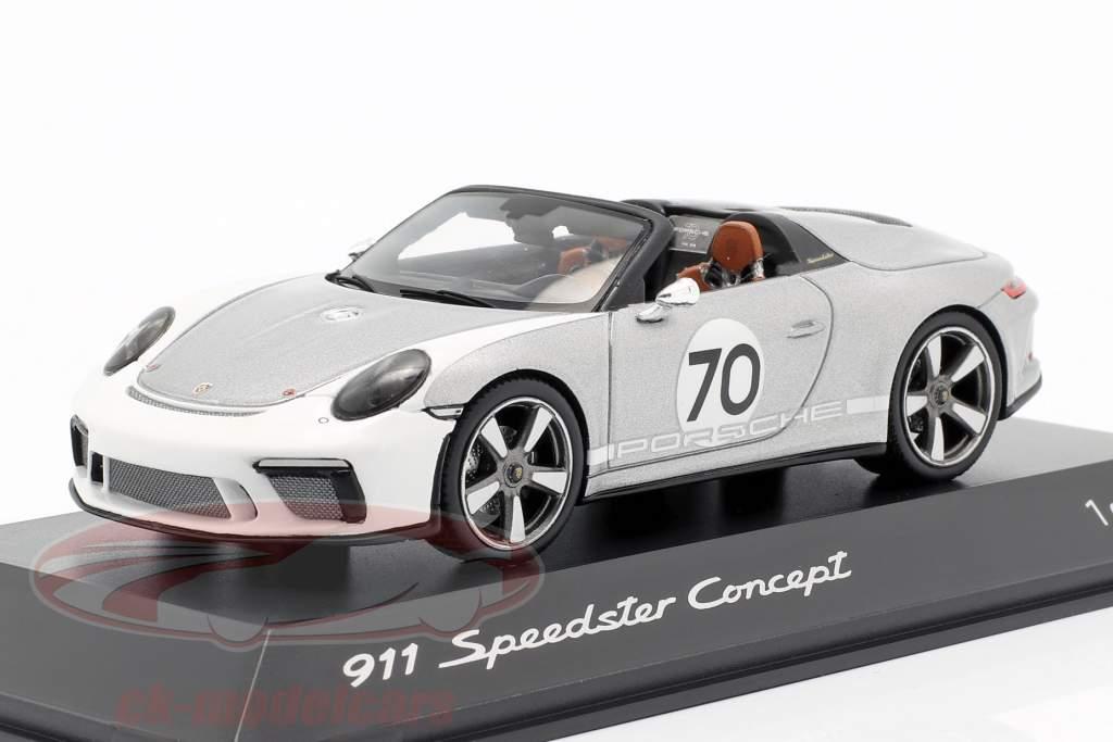 Porsche 911 (991 II) Speedster Concept #70 Heritage Edition sølv 1:43 Spark