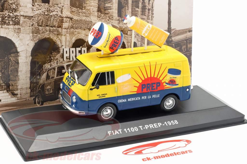 Fiat 1100 T van PREP yellow / blue 1:43 Altaya