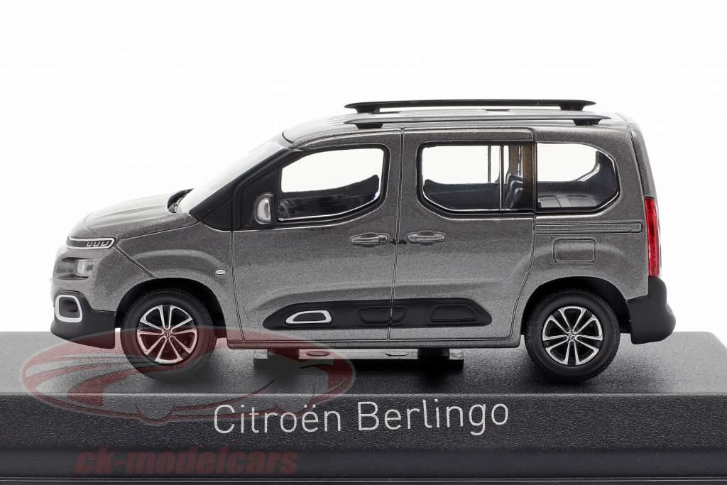 Citroen Berlingo ano de construção 2018 platina cinza 1:43 Norev