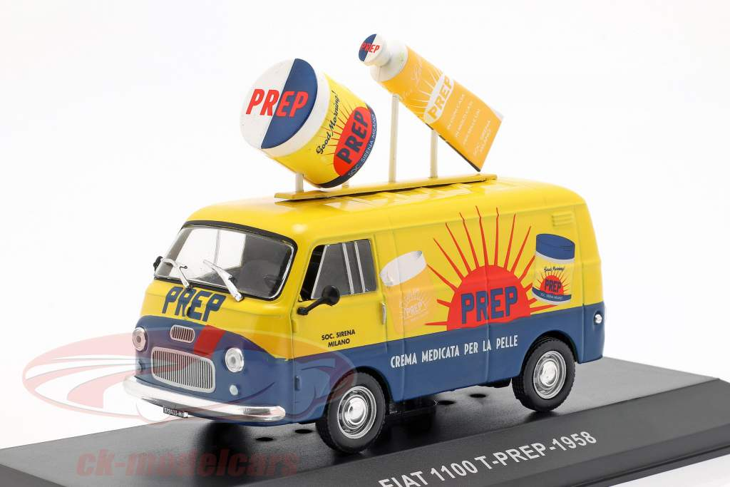 Fiat 1100 T van PREP jaune / bleu 1:43 Altaya