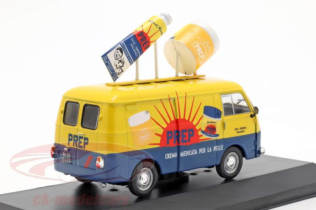 Fiat 1100 T furgone PREP giallo / blu 1:43 Altaya