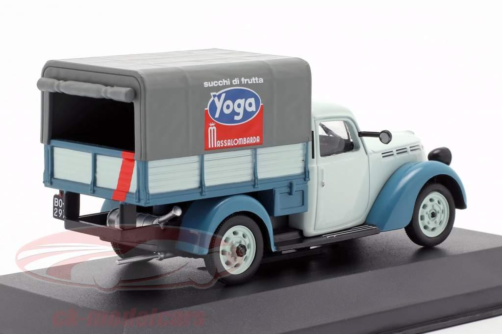 Fiat 1100 ELR Camioncino Pick up Yoga Light Blue / dark blue 1:43 Altaya