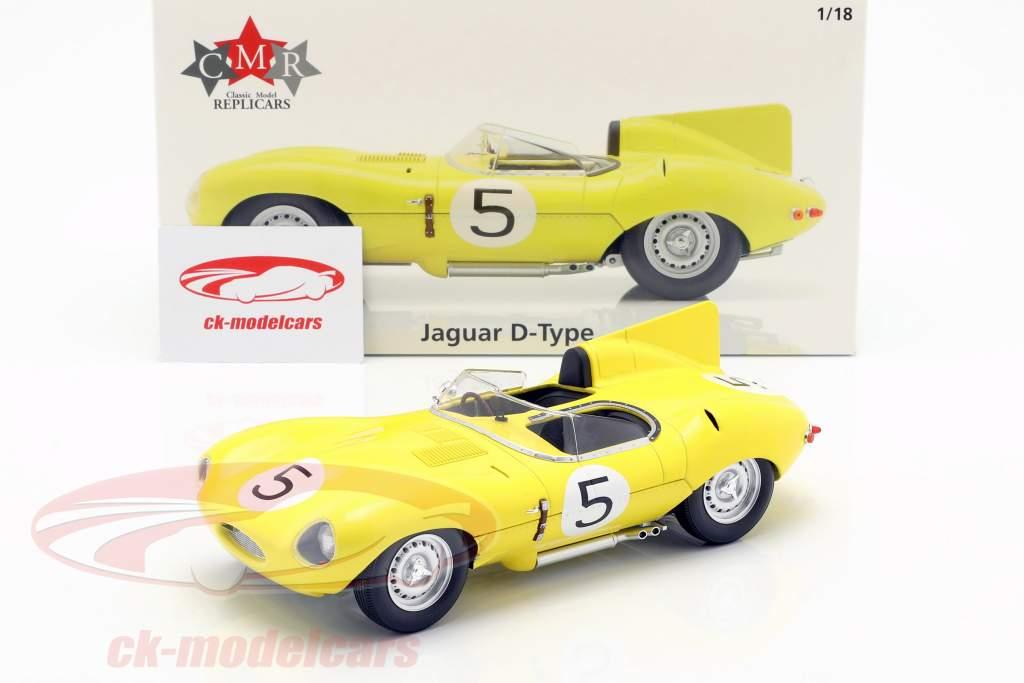 Jaguar D-Type #5 4th 24h LeMans 1956 Swaters, Rousselle 1:18 CMR