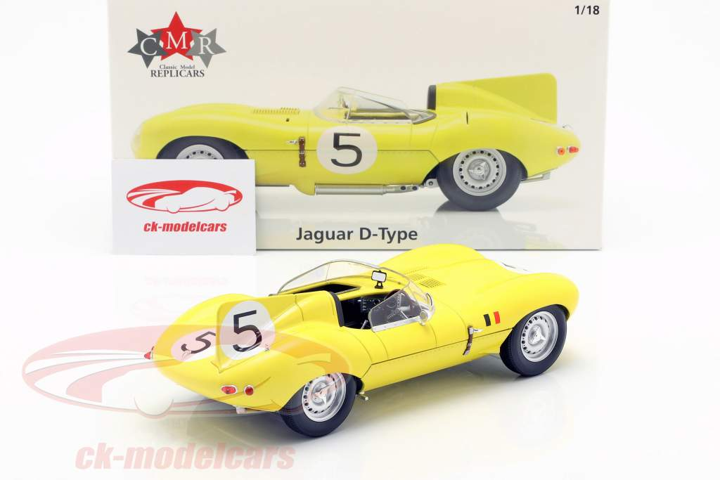 Jaguar D-Type #5 cuarto 24h LeMans 1956 Swaters, Rousselle 1:18 CMR